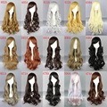 "MCOSER 30"" Long curly Cosplay Fashion Wig 15 Colors heat resistant lolita heat resistant wig pecula"