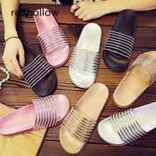 цена на 2019 Fashion Women Slippers Flip Flops Platform Sandals Bling Slippers Flat Summer Beach Slippers Comfort Flat Shoes For Women