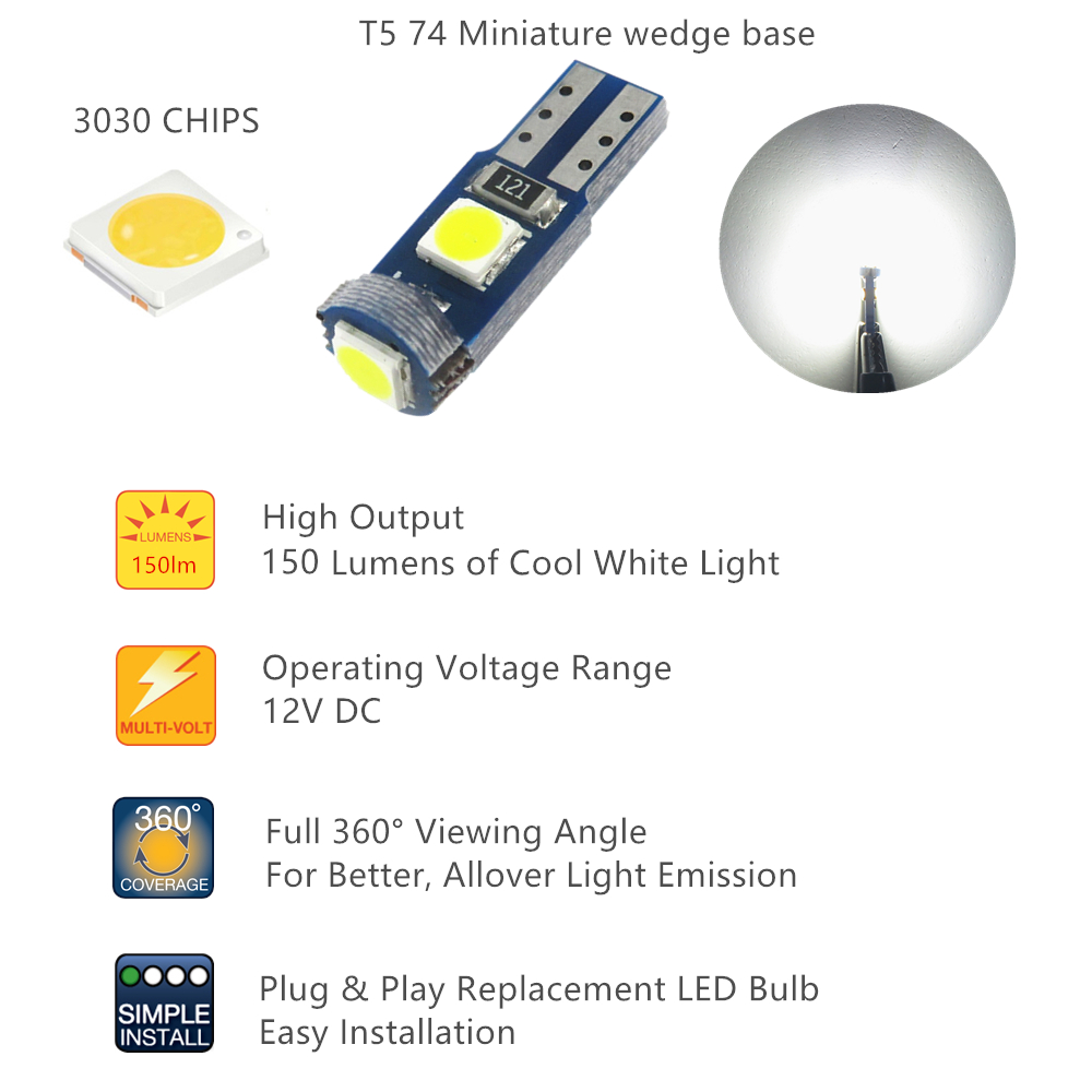 luzes para painel de carro instrumento 05