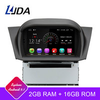 LJDA Android 9.1 Car DVD Player For FORD Fiesta 2008 2017 GPS Navigation 2 Din Car Radio Multimedia WIFI Stereo IPS Headunit RDS