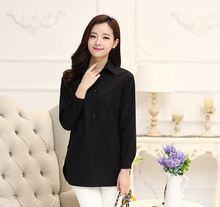 Blouses Hot Sale Cotton Fashion Blouse Women 2015 Spring New Shirt Long Section of Female Korean Long-sleeved Bottoming Xxxxl