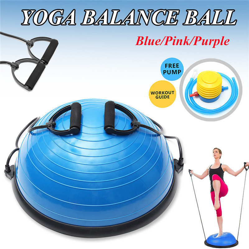 Newest PVC Inflatable Fitness Ball Balancing Balls Yoga Half Ball Balance Trainer Fitness Strength Exercise Gym Pilates ball gym crossfit fitness massage lacrosse ball therapy trigger full body exercise sports yoga balls relax relieve fatigue tools