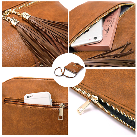 REALER women shoulder bags artificial leather messenger bags for ladies with tassel high quality crossbody bag female fashion Karachi