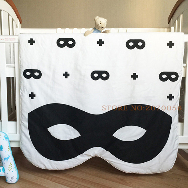 New arrival baby kids quilt,100% cotton cute Batman&Angel soft blanket game mat for baby bed,Cartoon mats for baby play130*90cm