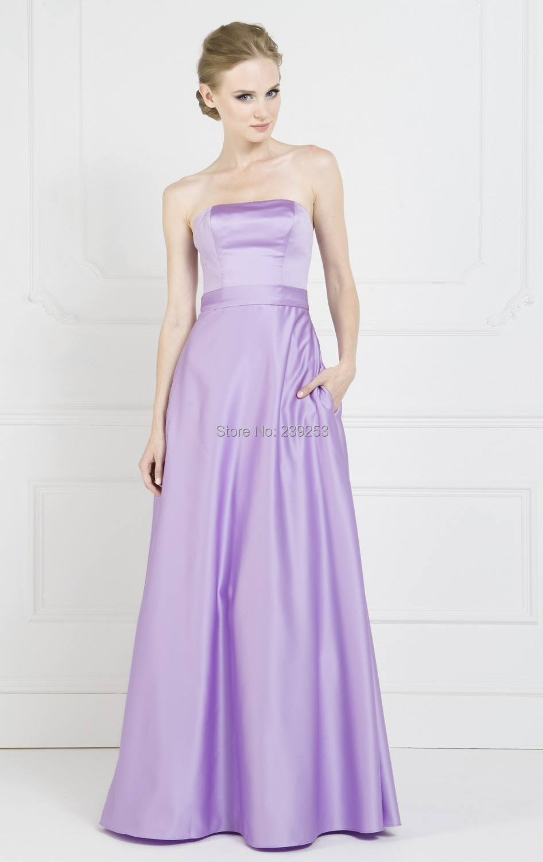 Excelente Vestidos De Dama De Largo Sin Tirantes Ideas Ornamento ...