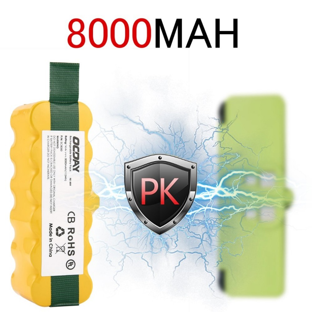 14 4V 8000mAh Ni MH Rechargeable Battery for Irobot Roomba 500 510 530 531 535 540
