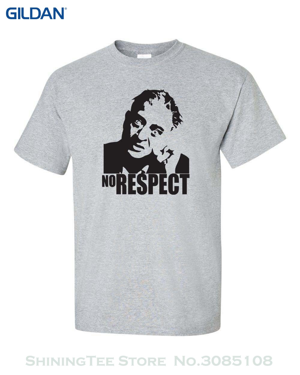 2019 New Short Sleeve Men No Respect Rodney Dangerfield Comedian Funny College Men's Tee Shirt 313 image
