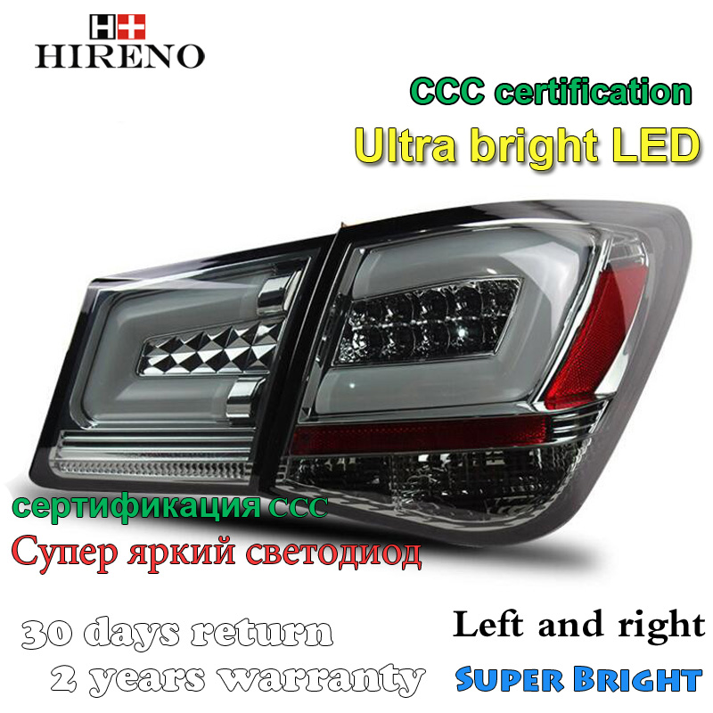 Hireno Tail Lamp for Chevrolet Cruze 2010 2011 2012 2013 LED Taillight Rear Lamp Parking Brake Turn Signal Lights внешние аксессуары jc sportline 2011 abs primmer led chevrolet cruze 11 14