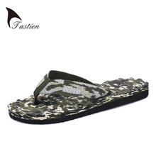 TASTIEN Brand Men Flip Flops Slippers Summer Beach Sandals Male Casual Shoes For Mens Man Shoe High Quality Camouflage Shoes