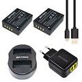 Batmax 2 unids np-w126 w126 np recargable batería + dual usb cargador para fujifilm finepix hs30exr x-pro1 x-m1 x-e2 x-a1 + ac adaptador