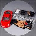 Maisto 1:24 Escala niños F430 red racing car diecast metal niños DIY línea de montaje de automóviles modelos de automóviles de colección de regalo mini juguete