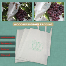 50pcs High quality wood pulp Grape bagging Paper bag Fruit Growth protection Insect proof waterproof birdproof Pest control