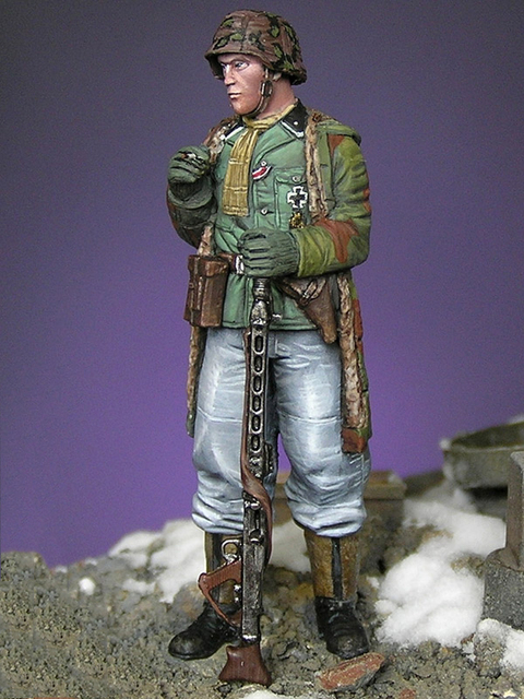 Resin Kits   1/ 35 WWII Leutnant Grenadier Ardennes 1944   Resin Not color Model DIY TOYS new WWII WW2