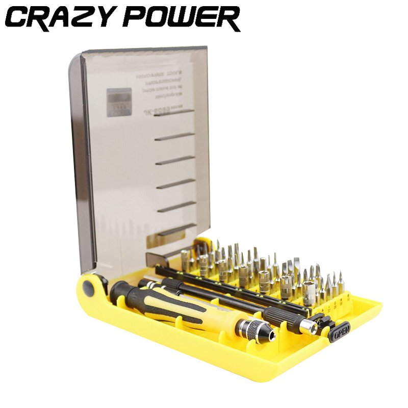CRAZY POWER 45in1 Multi purpose Precision Magnetic Hand Screwdriver Set Household Hand Tool Set for Phone