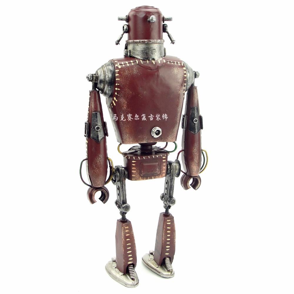 Retro ferro, americano punk, robot decorazione, creativo metallo arti e mestieri, soggiorno, libreria decorazione-in Statuine e miniature da Casa e giardino su  Gruppo 2