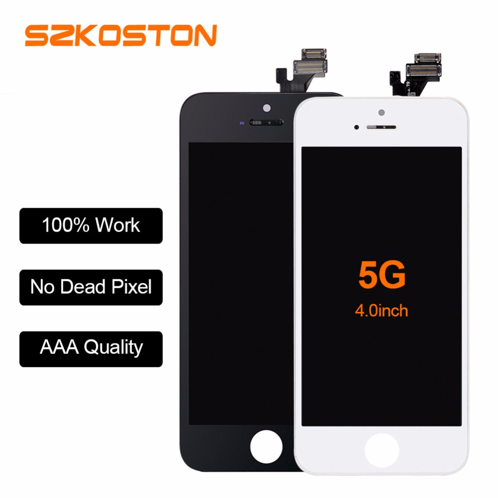 AAA Quality Screen For Apple iPhone 5 5S 5C Display Screen LCD Assembly With Original Digitizer Glass No Dead Pixel