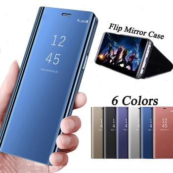 Mirror Flip Case For Xiaomi Redmi Note 5A Note4X 5Plus Luxury Clear View PU Leather Cover For Xiaomi Mi MIX 2 6 5X 5C Note3 Case