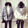 Ucrânia Top Fashion Nenhum Grosso Sólidos New 2017 Mulheres de Inverno Camisola De Algodão quente Cordeiros Cabelo Com Um Bolso Temperamento Solto casaco