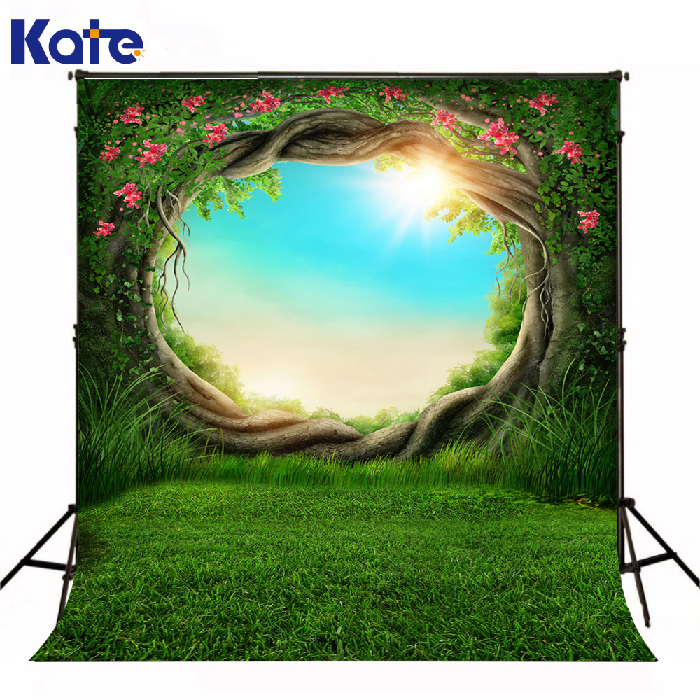 Kate Cartoon 3D Landscape Green Screen Backgrounds For Photo Studio Photography Backdrops  Grass Sunshine Chromakey ashanks photography backdrops solid green screen 10x19ft chromakey cloth backgrounds porta retrato for photo studio