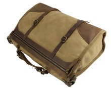 Vintage Retro military Canvas + Leather Men Travel Bags