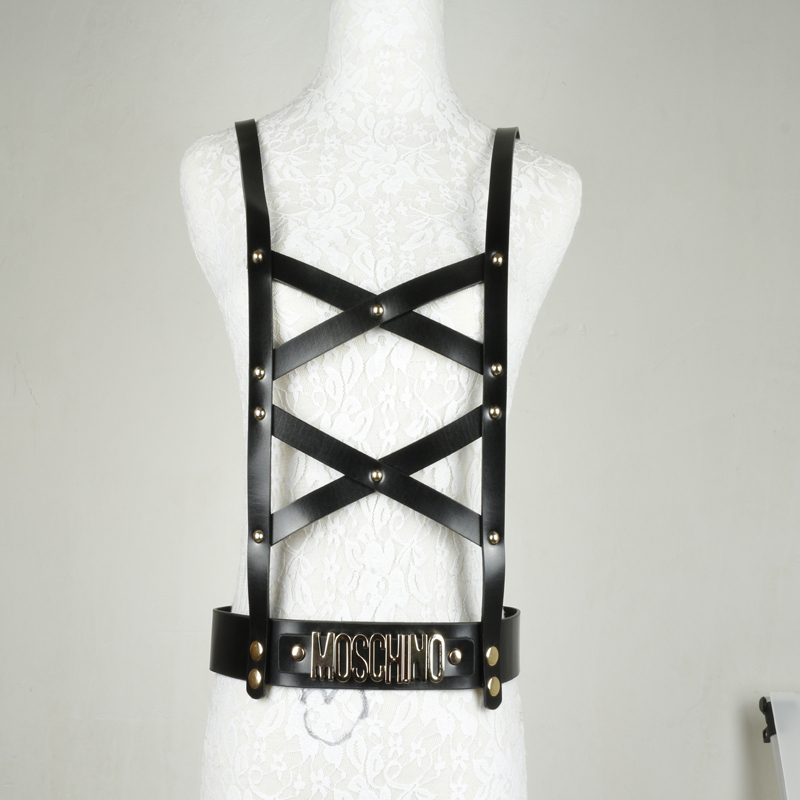 Ремни, европейский и американский уличный ночной клуб преувеличенный кожаный поясной ремень полоса подклавный ремень для тела