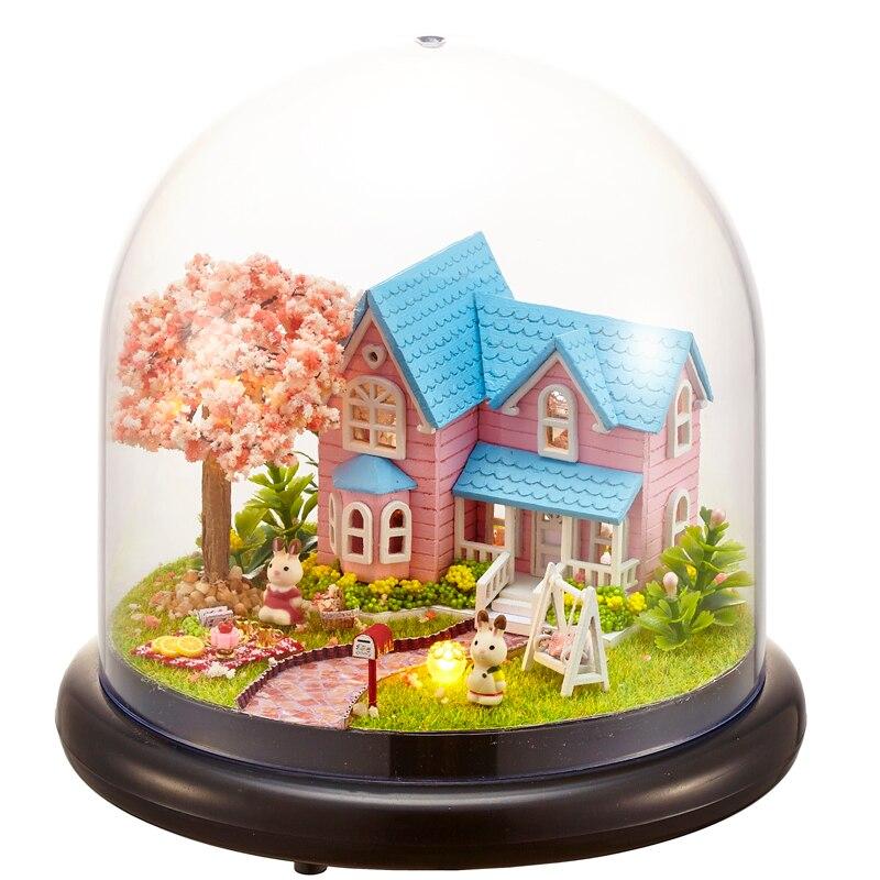 Muñeca Casa Miniatura DIY Casa De Muñecas Con Muebles De Casa De Madera Juguetes Para Niños Regalo De Cumpleaños B016