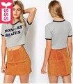 SSS Rock Roll 2017 Womens short sleeve print MONDAY BLUES T-shirts ladys midriff shirts crop tops short tees