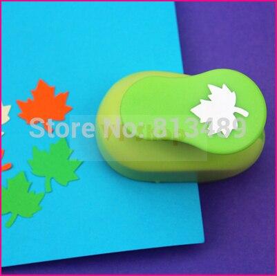 free ship maple leaf eva foam punch child diy craft punch scrapbook paper cutter scrapbooking punches Embosser  S2937-3