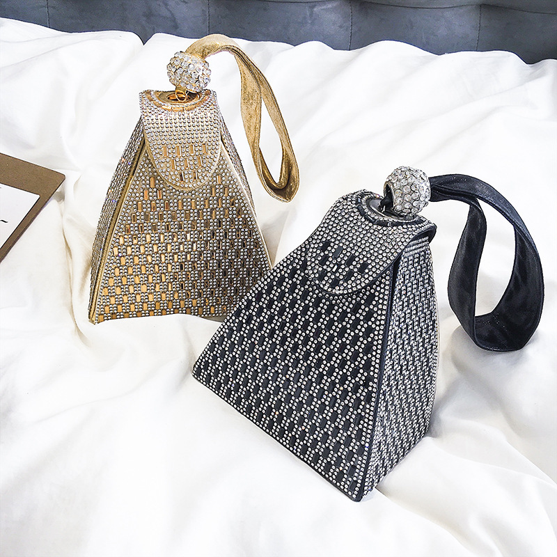 Spring New 2019 Famous Brand Handbag Fashion Small Female Party Diamond clutch Design Ladies Phone Bags