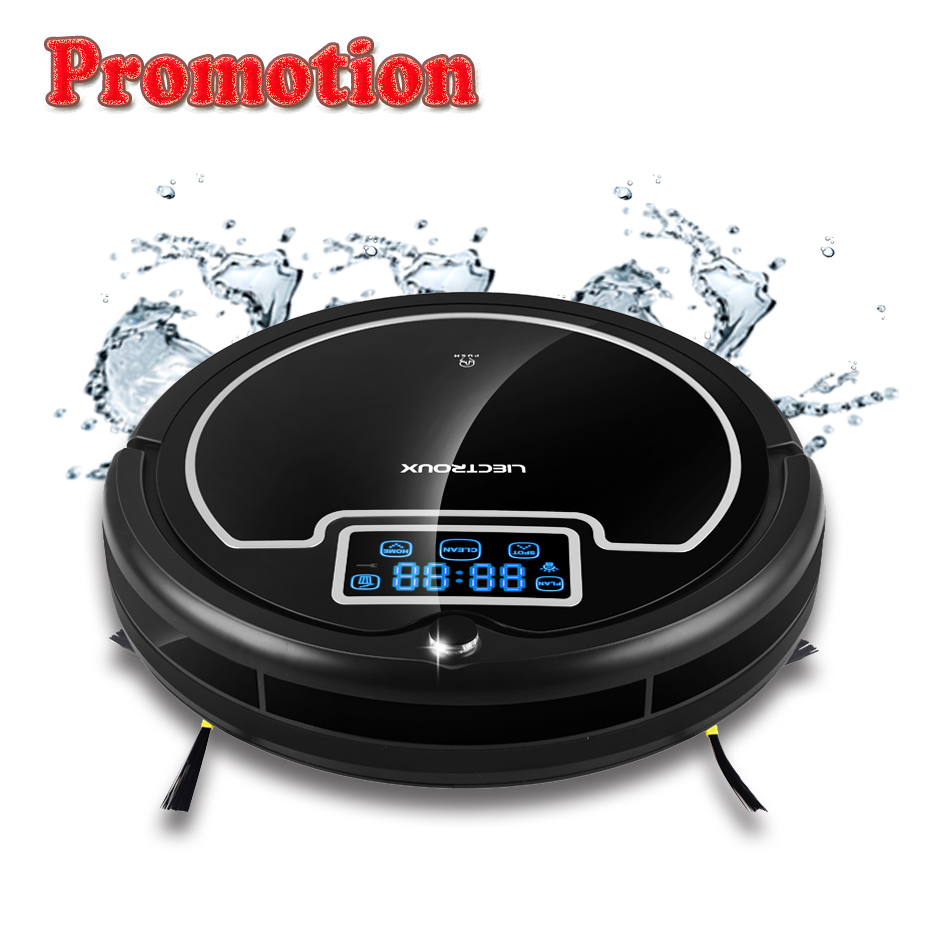 Ru Warehouse LIECTROUX B2005PLUS Robot Vacuum Cleaner With Water Tank Wet Dry TouchScreen WithTone Schedule