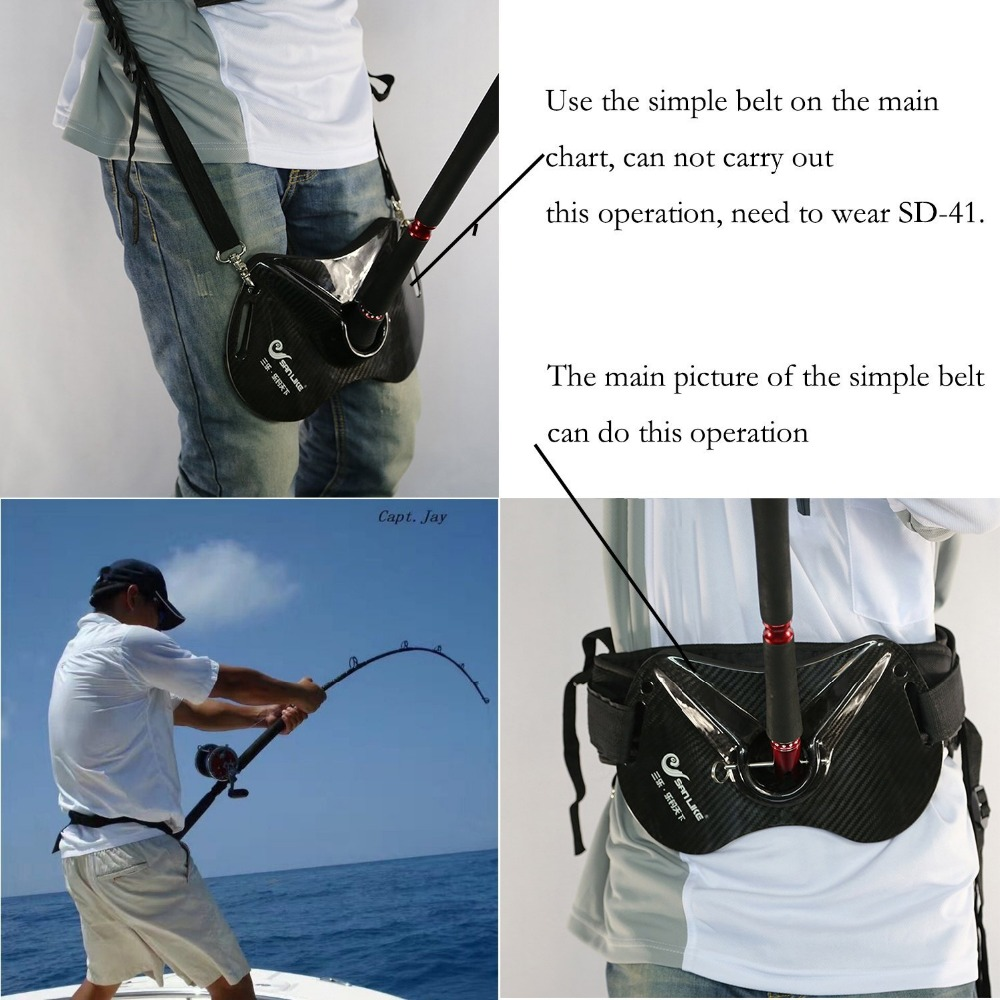 Sanlike Fishing Fighting Rod Holder Adjustable Belt Waist Carbon Fiber Fish Rod holder Fishing Accessories Fishing