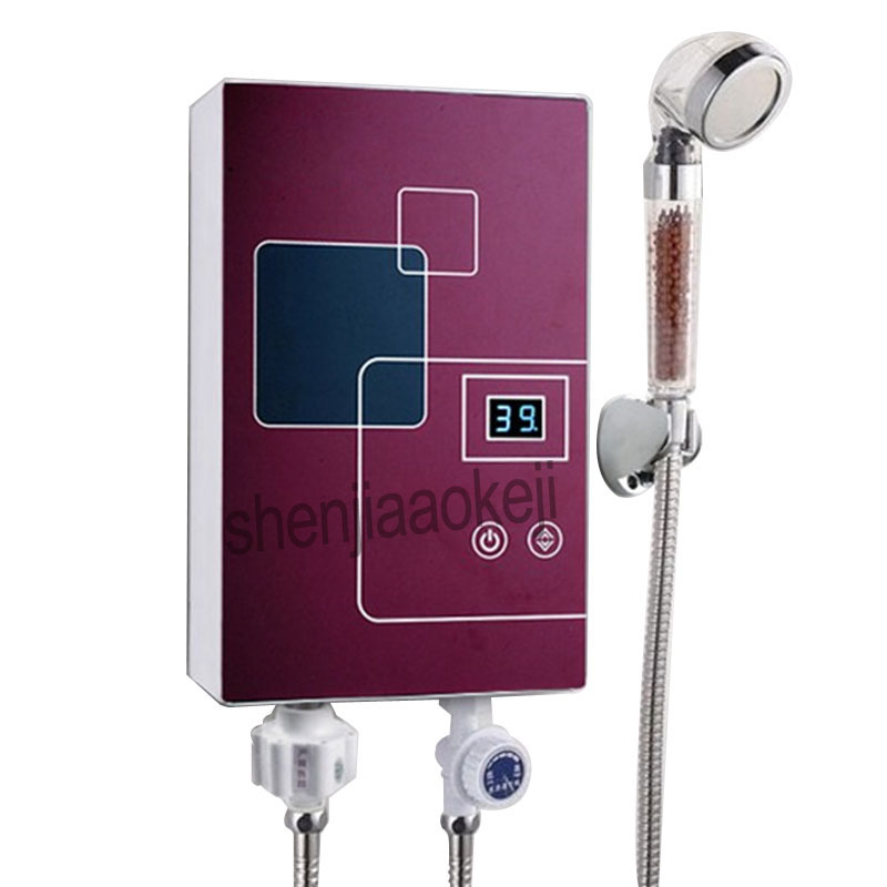 Household instantaneous hot shower for bathroom Kitchen instant Heating water supply Instant Electric Water Heater 220v 6000wHousehold instantaneous hot shower for bathroom Kitchen instant Heating water supply Instant Electric Water Heater 220v 6000w