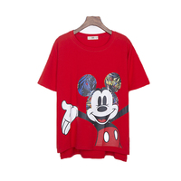 Summer Tops New 2017 Women Korean Casual Loose Short Sleeved T Shirt Cute Kawaii Mickey Print