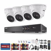 ANNKE 8CH 3MP CCTV System HDMI Hybrid CCTV DVR 4PCS 1920 1536 Outdoor Security Camera 3MP