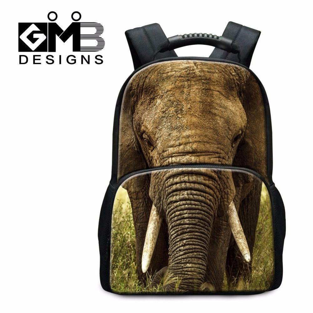 ФОТО Dispalang high quality college student school bag elephant animal 3D printing felt backpacks for teenagers big bookbags mochila