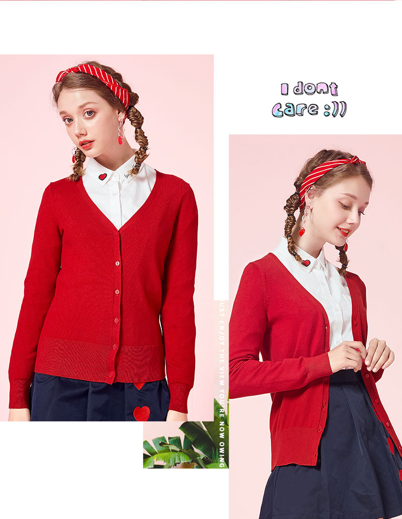 SEMIR Knitted Cardigan sweater Women 19 Spring Simple Solid Straight Bottom Clothing Sweater Fashion Cardigan for Female 6