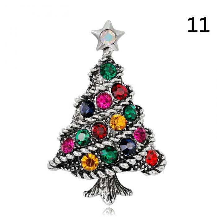 Stylish Brooches Christmas Jewelry Xmas Tree Deer Snowman Brooch ...