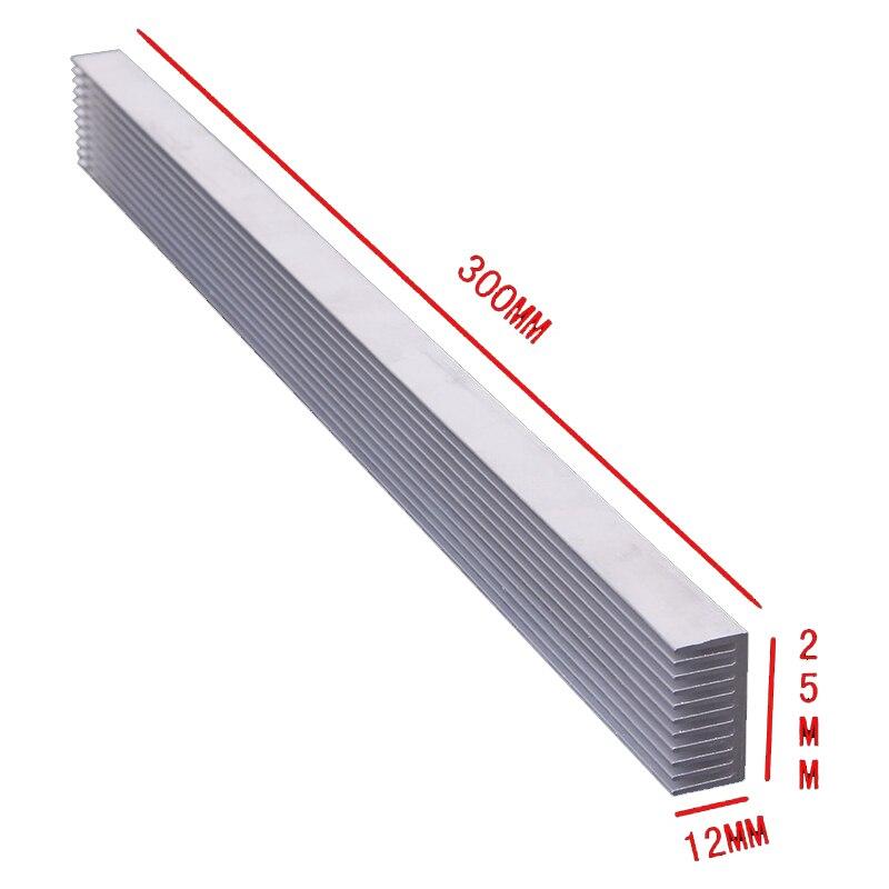 1 piece 300x 25x 12MM  4 x 3W /12 x 1W LED HeatsinkAluminum Heat Sink Radiator for IC Electronic Chipset heat dissipation as12 300 25 4 20