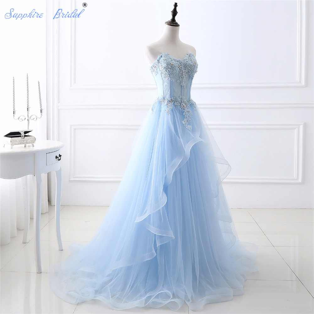 Detail Feedback Questions About Sapphire Bridal Soft Light Weight