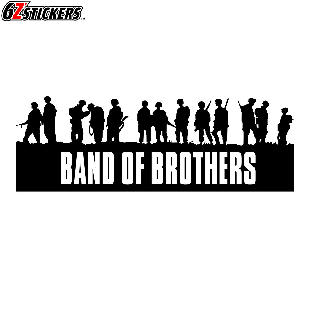 sixsub 1pcs Band of <font><b>Brothers</b></font> 100x30CM 3D Car Styling Sticker Funny Car Stickers and Decals image