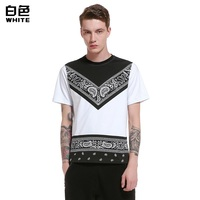New T Shirt Men S Digital Printing Stitching T Shirt Quality Cotton Short Sleeved Casual Men