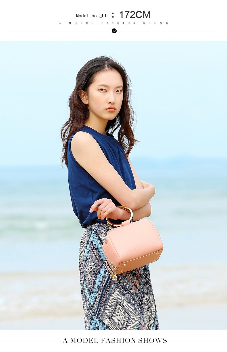 HONGU Luxury Cow Leather Handbags Women Bags Brands Ring Evening Purses Lady Mini Crossbody Shoulder Bags Female Messenger Totes     H5140080992 (3)