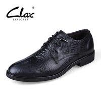 CLAX Men Alligator Shoes Genuine Leather Autumn Balck Dress Shoe Male Retro Vintage Italian Business Footwear