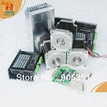 CNC kit-3Axis Nema 34 Stepper Motor,892OZ-In 85BYGH450D-007B,dual shaft &Driver DQ860MA&Power&Breakout board 3axis stepper motor kit 425oz in nema34 motor driver power supply 5axis breakout board cable cnc router kit