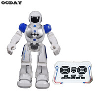Smart Space Robot Electric Soldier Walking Dancing Robot Intelligent Infrared Gesture Toys for Children Kids Action Figures Gift
