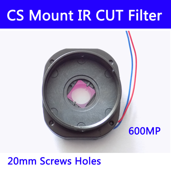 10pcs/l CS Mount IR Cut Filter Double Filter Switcher For Cctv IP AHD Camera 6MP Day/night 20MM Lens Holder 7214