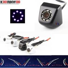 Koorinwoo 2019 In Movimento Dinamico Traiettoria Universale Auto di Parcheggio CCD HD Car Rear view Camera di Backup 8 Luci di IR Telecamera di retromarcia