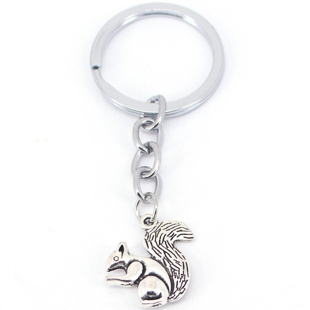 hzew 3D Ancient silver squirrel Key Chains animal squirrel keychain in Key Chains from Jewelry Accessories