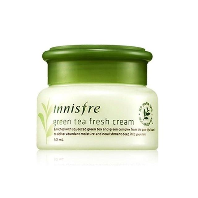 Original New Green Tea Fresh Cream 50ml Korea Face Cream(Oily Skin Type) Facial Care Fresh moisturizing gel cream From Korea