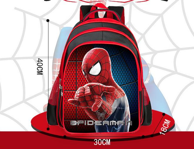mochilas escolares crianças spiderman 2017 Strap Root Number : Double Root